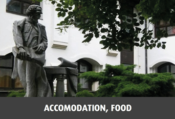 Accomodation, food