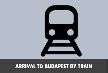 Arrival to Budapest by train