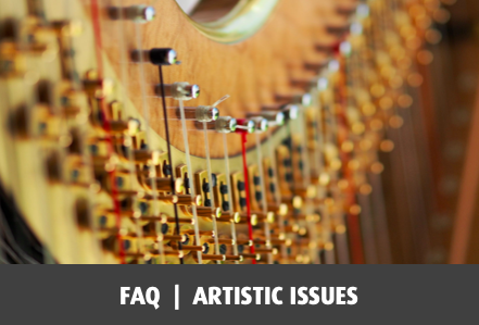 Frequently asked questions about artistic issues