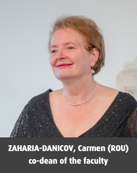 ZAHARIA-DANICOV, Carmen (ROU), co-dean of the faculty