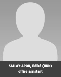 SALLAY-APOR, Ildikó (HUN), office assistant