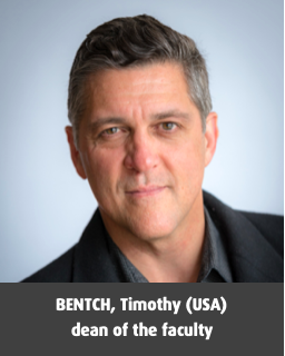 BENTCH, Timothy (USA), dean of the faculty